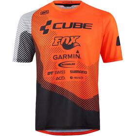 Cube Edge Kortermede Sykkeltrøyer Herre Orange/Svart